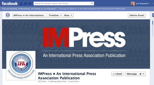 LIKE US on our IMPress Fan page as well.