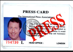 Fake Press Card