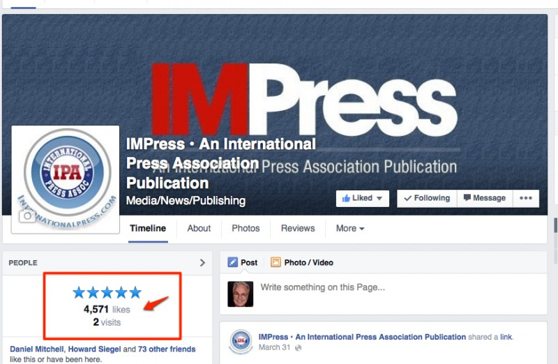 IMPress Likes on Facebook