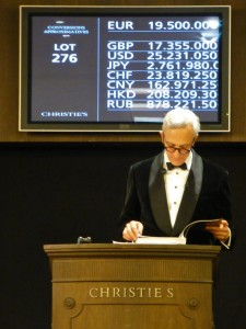 Christie's Auctioneer