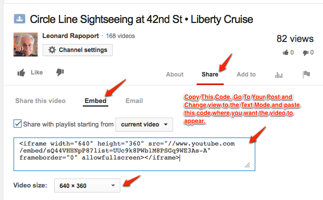 How to Embed your video files