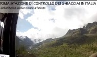 The first glacier control station in italy