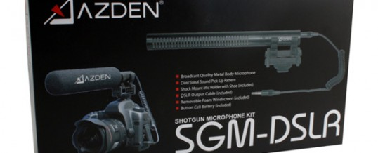 Azden Introduces Their New SGM-DSLR Shotgun Microphone