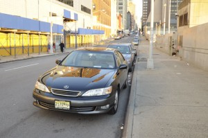 My car near the Jacob Javits Center in a NYP Parking spot.